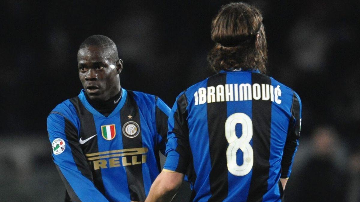 FOOTBALL 2009 Inter Milan - Balotelli et Ibrahimovic