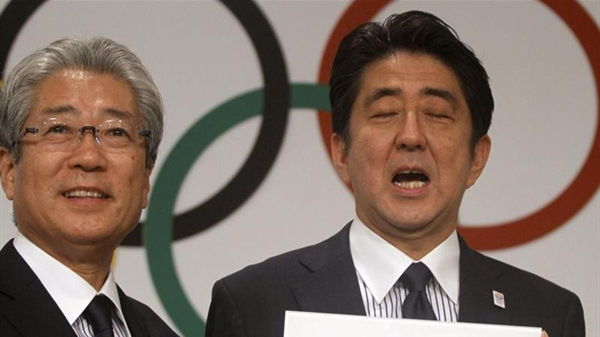 Tsunekazu Takeda y Shinzo Abe, representantes de Tokio 2020