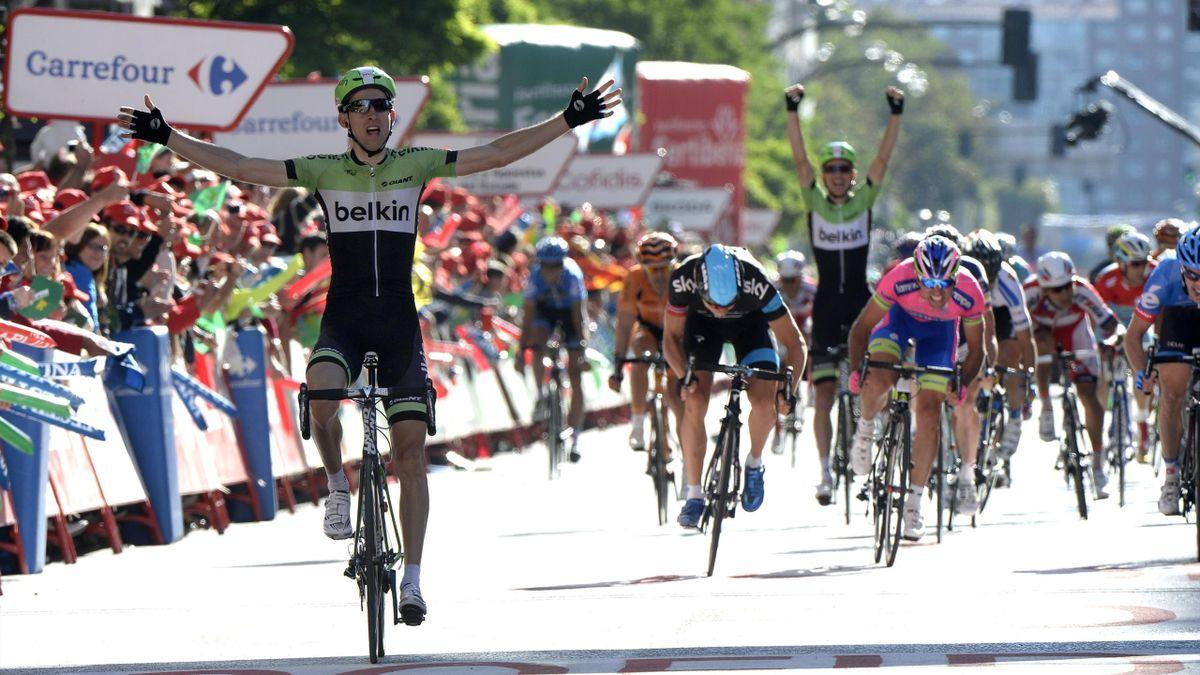 Bauke Mollema Belkin Burgos Vuelta 2013 stage 17