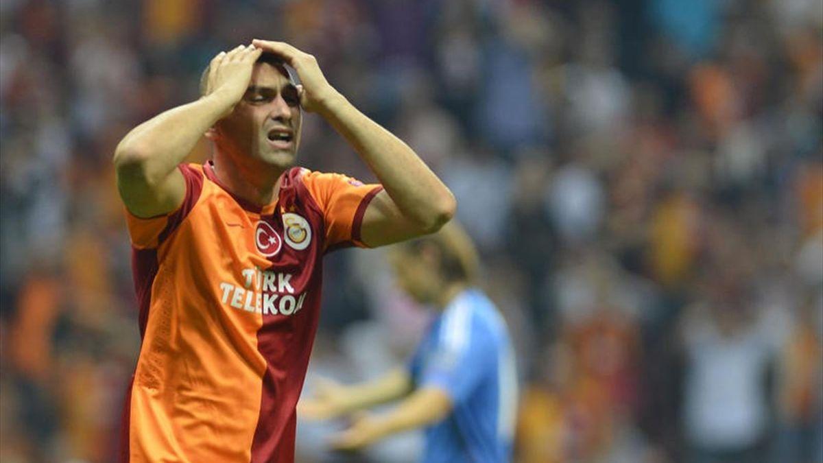 Galatasaray oyuncusu Burak Yılmaz kaçırdığı golün ardından