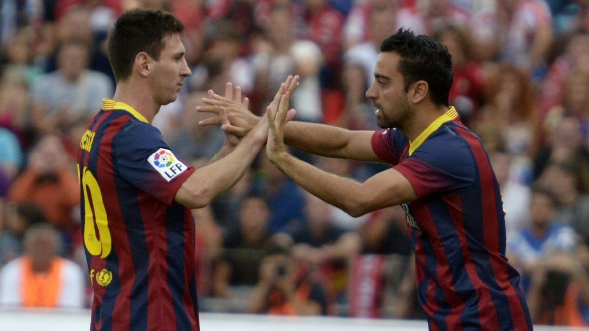 Barcelona Lionel Messi Xavi Hernandex