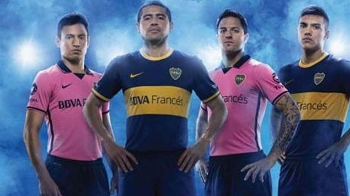 La vestimenta rosa de Boca,  polémica (Nike).