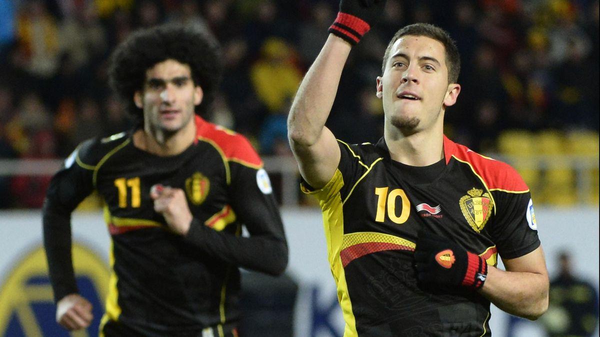 FOOTBALL 2013 Belgique - Fellaini et Hazard