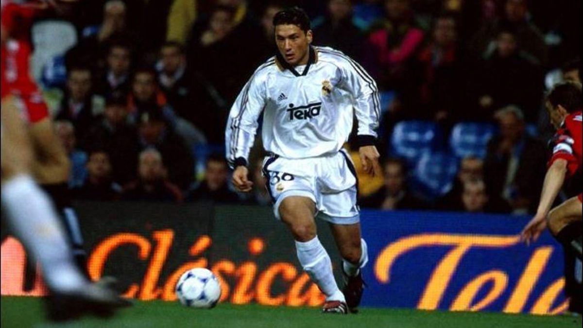 Rolando Zárate, en un partido con el Real Madrid