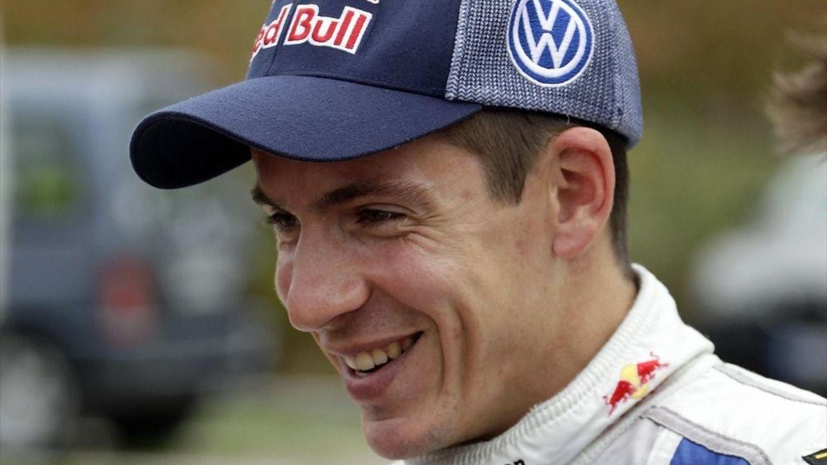 Sebastian Ogier after winning the Rally of Spain