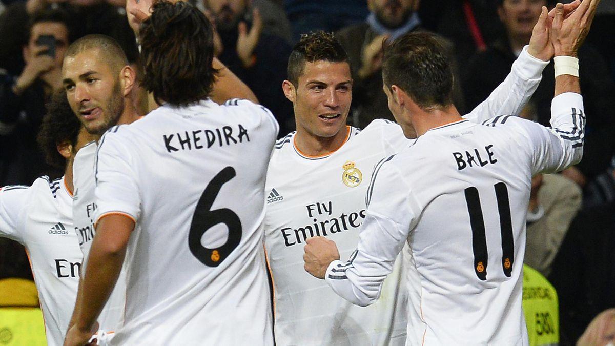 Liga (11e journée) - Real-Séville : Benzema-Ronaldo-Bale, le trio qui a fait exploser Séville - Eurosport
