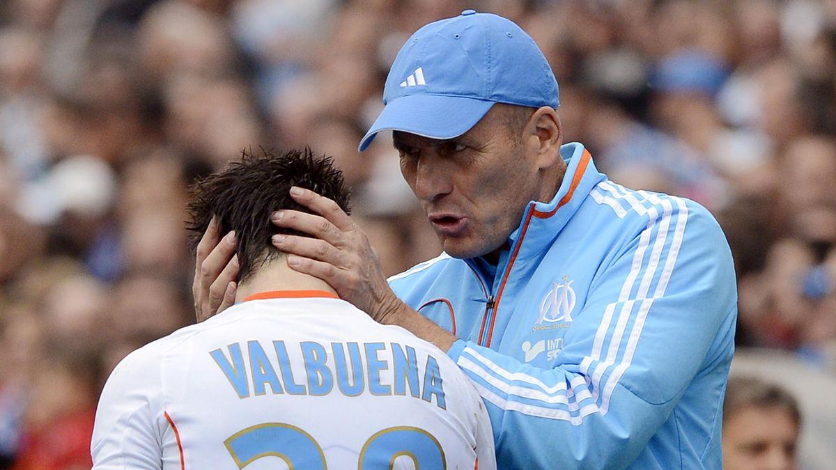 2013 Marseille OM Mathieu Valbuena Elie Baup