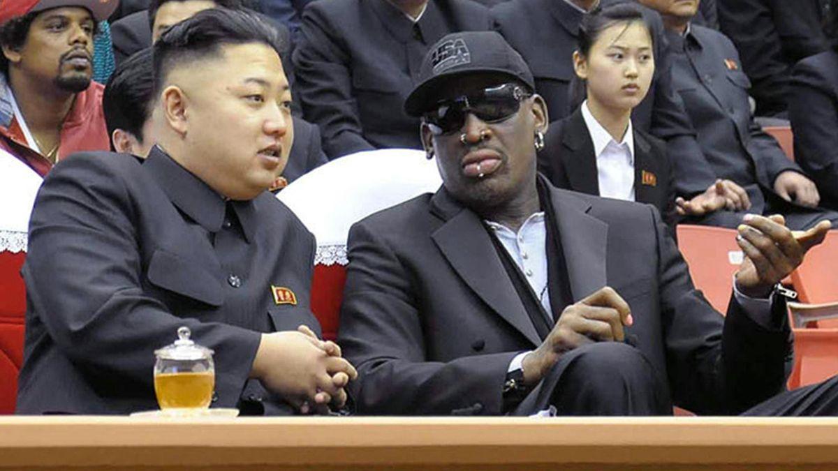 Dennis Rodman mit Kim Jong-un