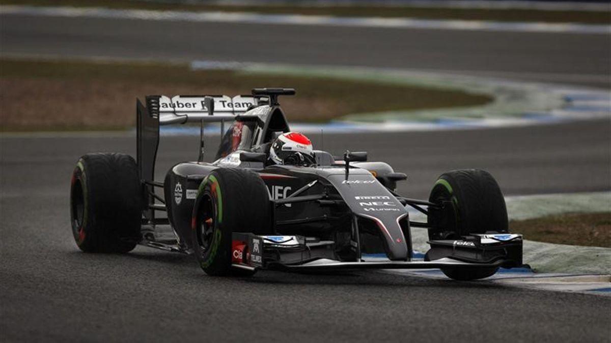 Sauber driver Adrian Sutil - Jerez test