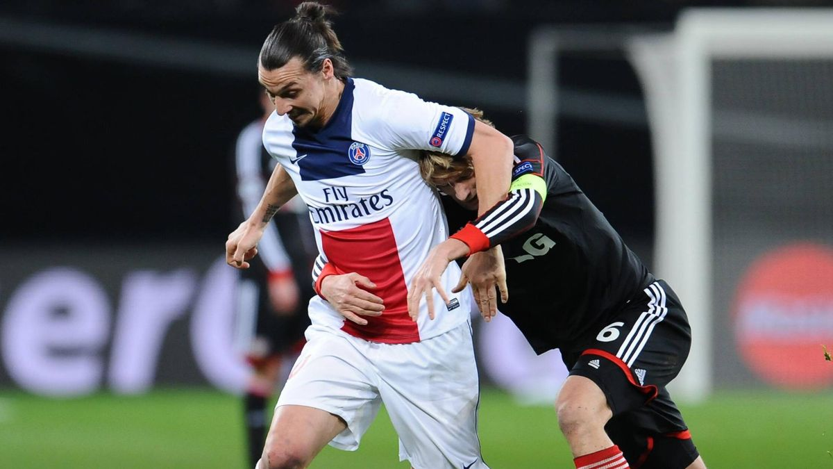 FOOTBALL 2014 Bayer Leverkusen - PSG (Ibrahimovic)