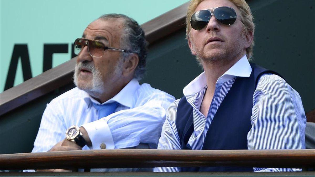 Ion Tiriac (l.) zweifelt an Trainer Boris Becker