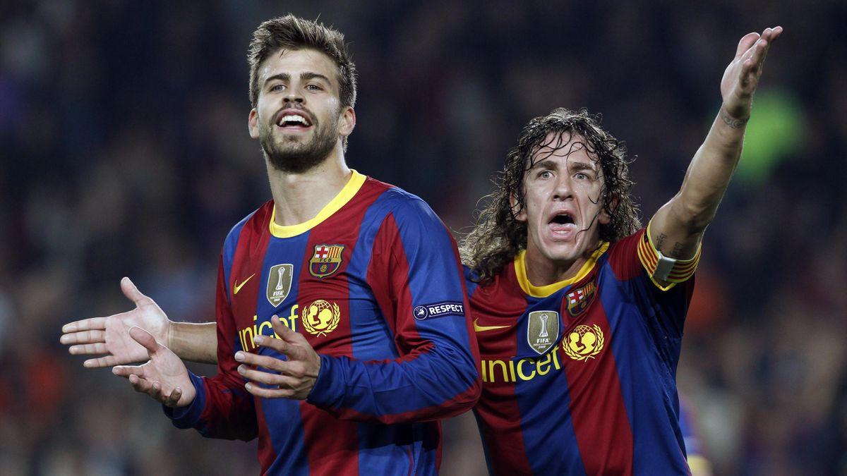 Gerard Pique and Carles Puyol, circa 2010 for Barcelona (Reuters)