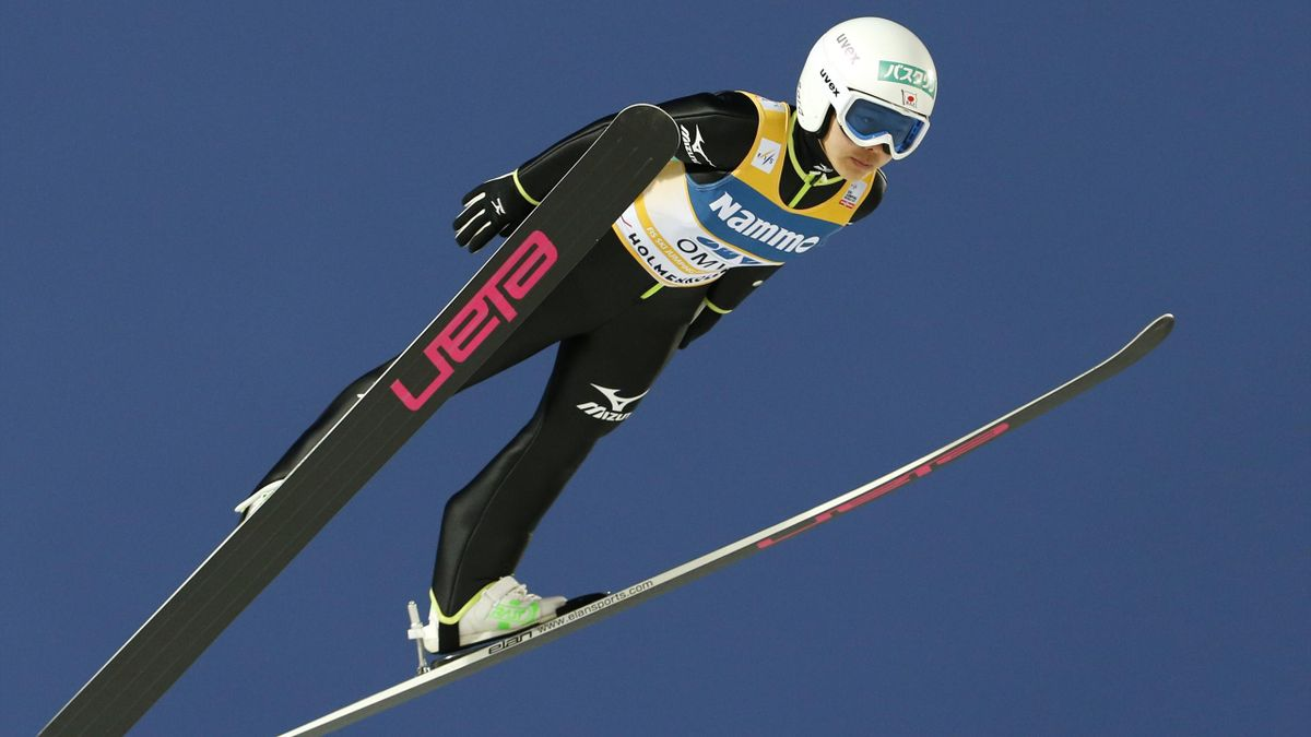 Sara Takanashi of Japan participates during the women's ski jumping event at the Holmenkollen World Cup March 8, 2014 (Reuters)