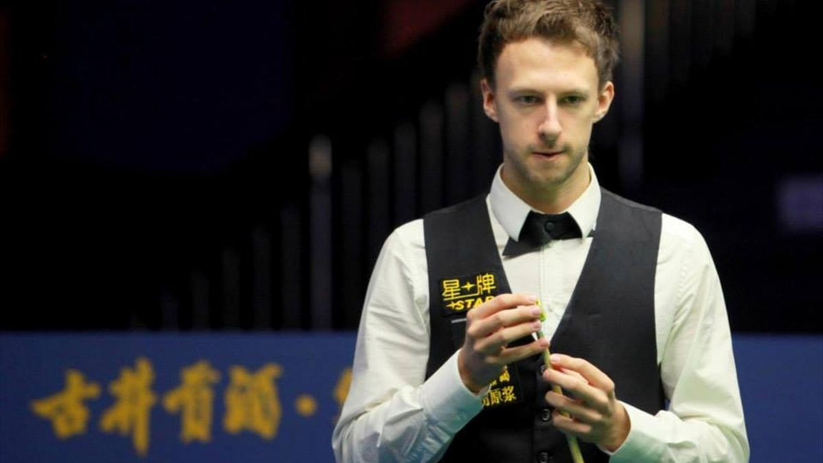 Judd Trump on his way to a 5-4 win over Matthew Stevens at the Haikou World Open. (Tai Chengzhe)