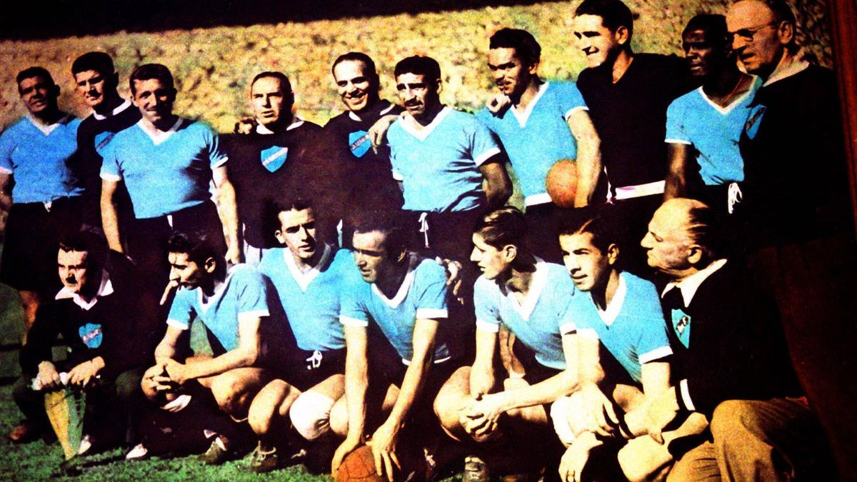 1950. L'équipe d'Uruguay, bourreau du Brésil en 1950 au Maracana