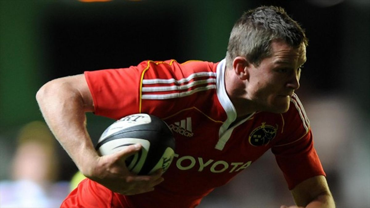 Denis Hurley scored one of Munster's seven tries