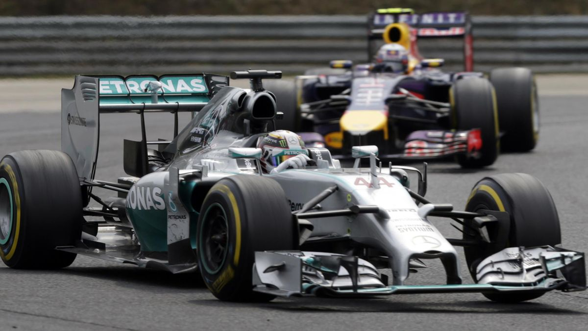 Lewis Hamilton in the Hungarian GP