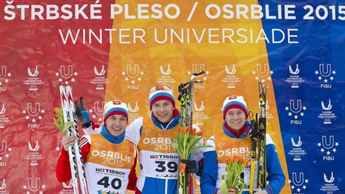 Maksim Burtasov, Iaroslav Ivanov e Yuri Shopin