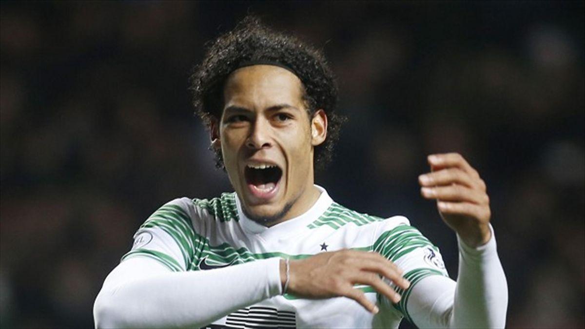 Virgil van Dijk is happy at Celtic Park