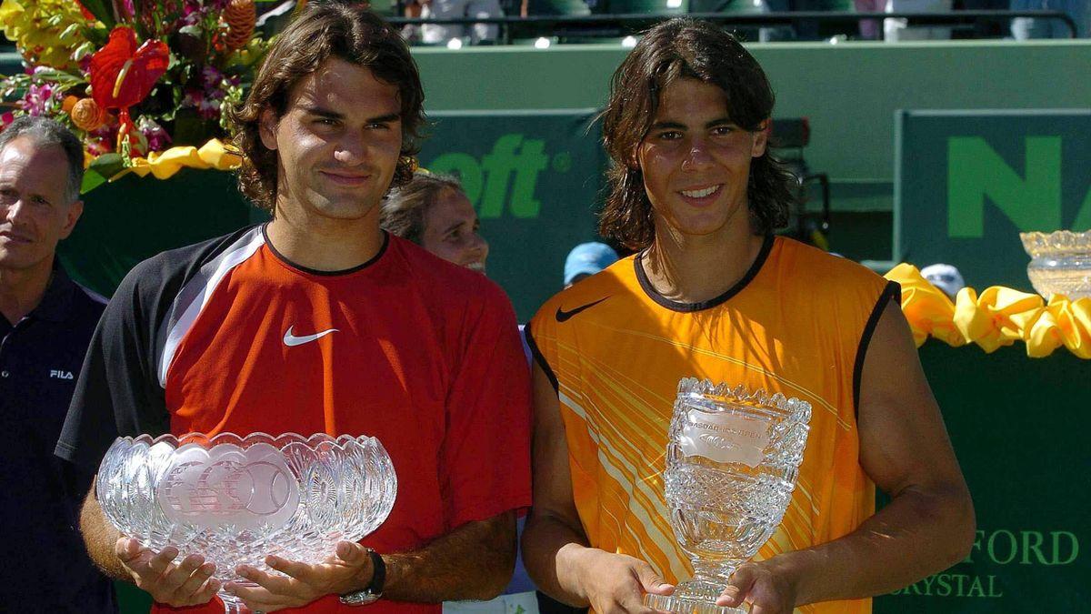 Federer y Nadal, en la final de Miami en 2005