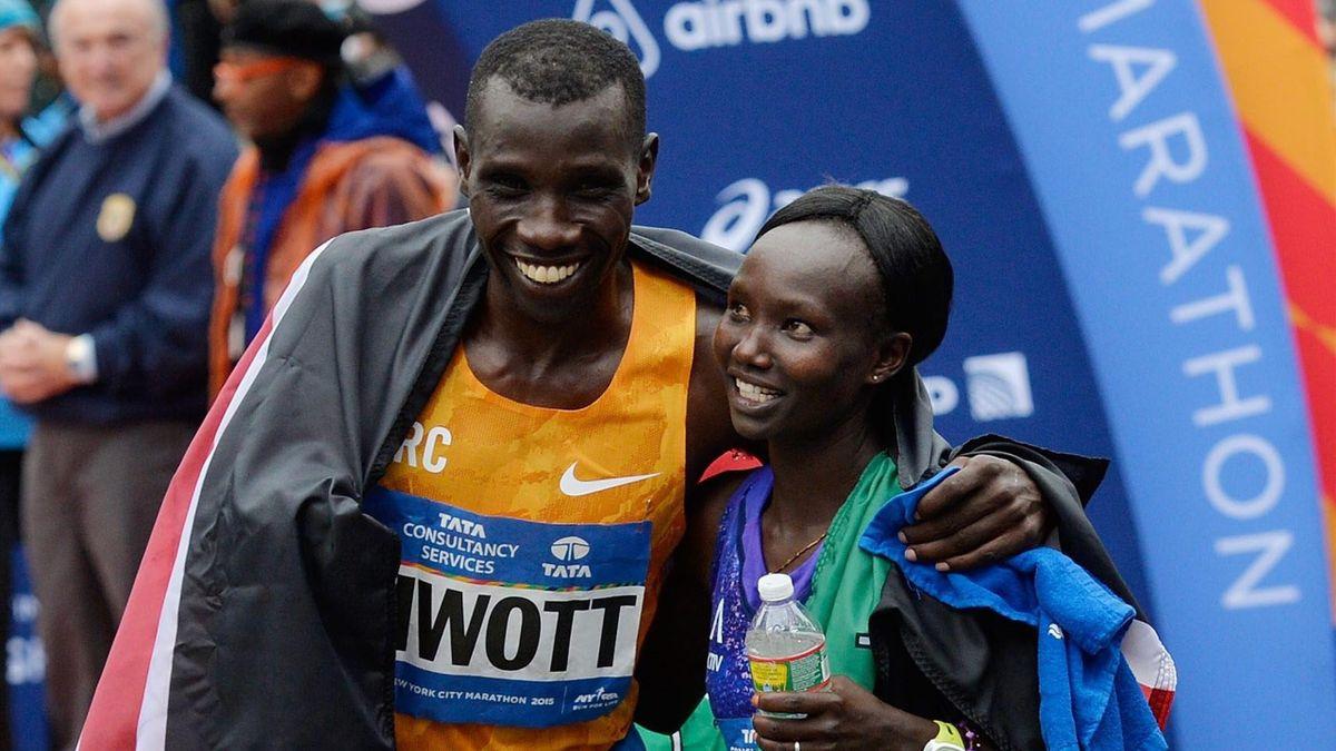 Stanley Biwott Mary Keitany marathon