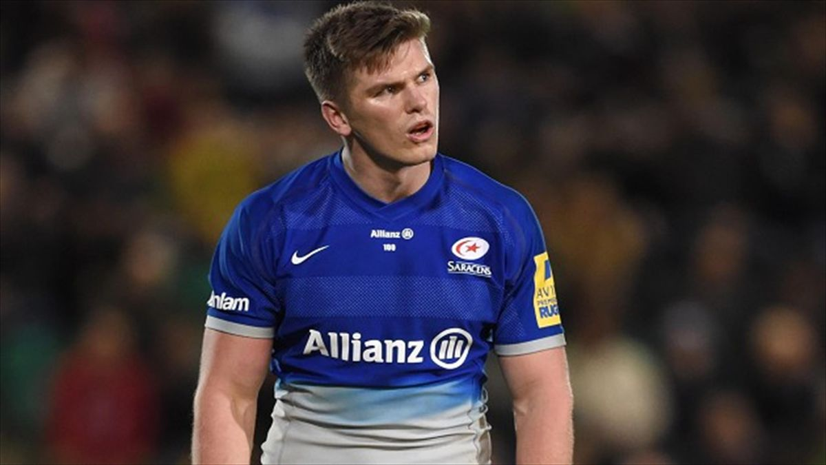 Owen Farrell scored 13 points as Saracens cruised to victory over Oyannax