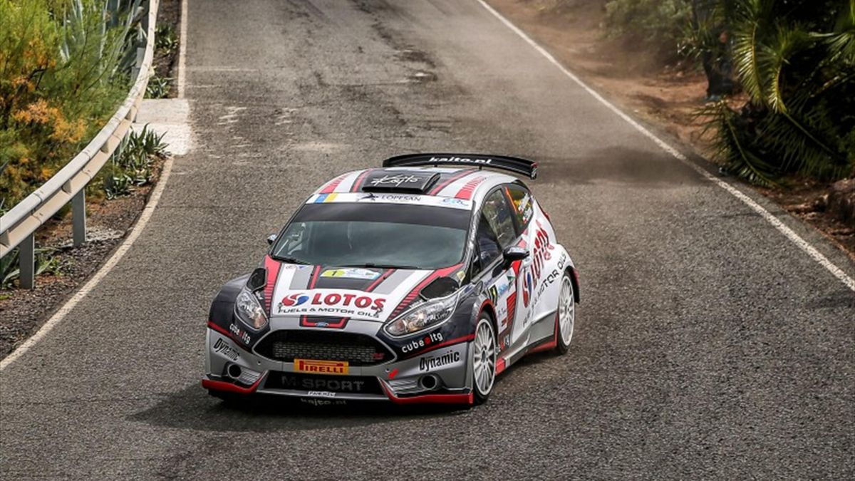 01 Kajetan KAJETANOWICZ  Jarek BARAN Ford Fiesta R5 ACTION during the 2016 European Rally Championship ERC Rally Islas Canarias, El Corte Inglés,  from March 10 to 12, at Las Palmas, Spain - Photo Jorge Cunha / DPPI