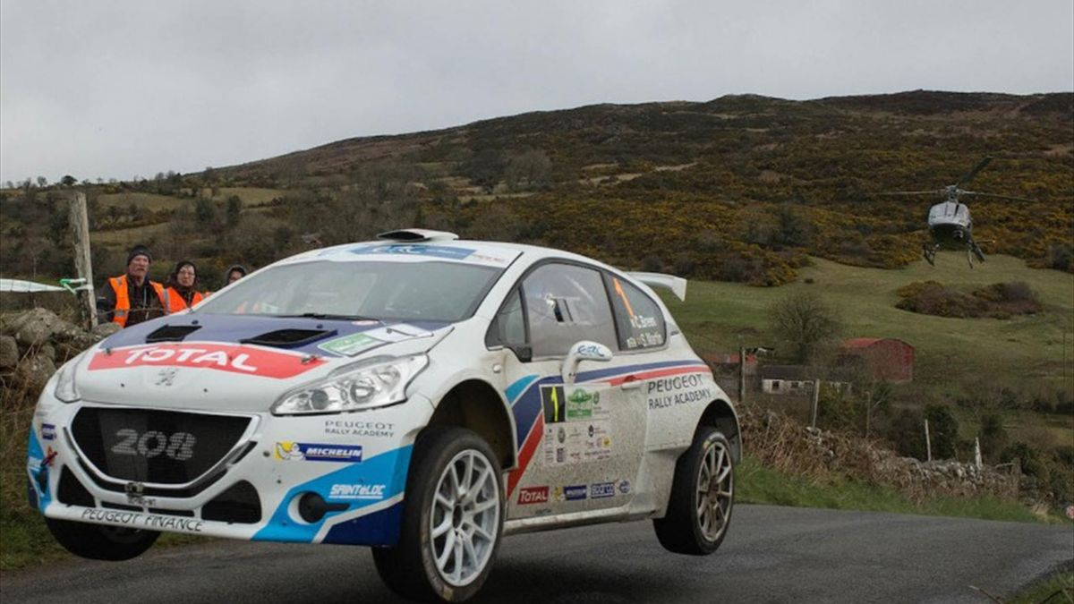 Craig Breen/Scott Martin (Peugeot 208 T16) will compete in Estonia this weekend in the latest round of the European Rally Chjampionship.  Picture: Martin Walsh.
