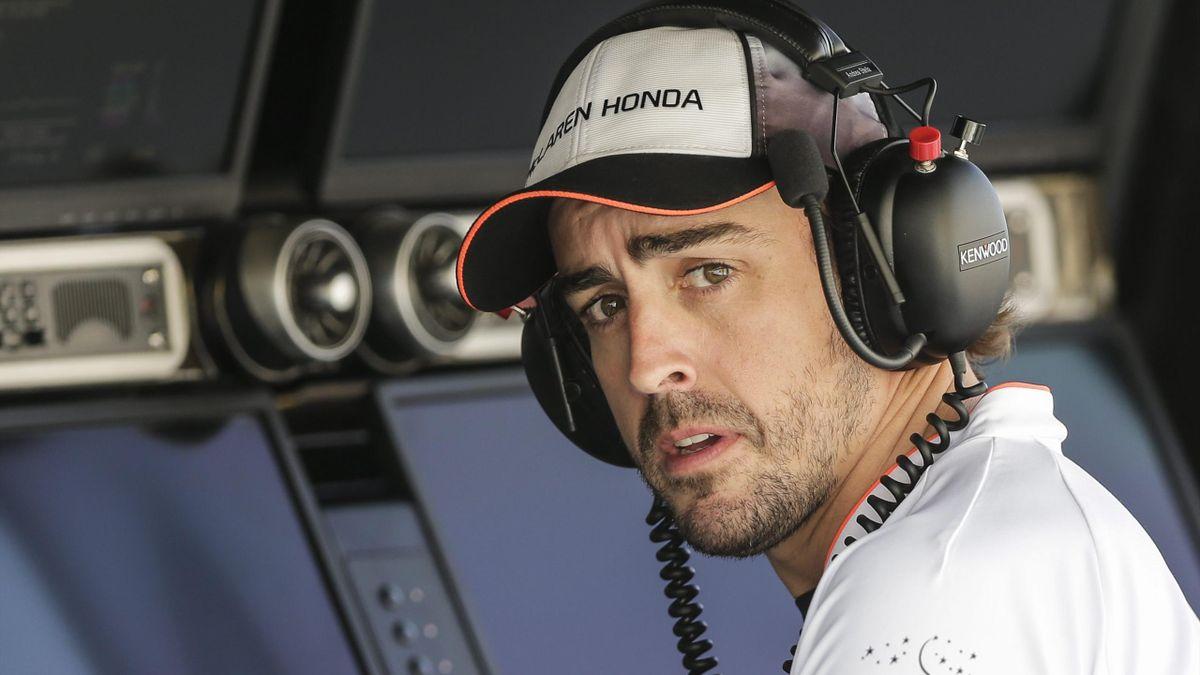 Fernando Alonso, en el GP de Bahrein