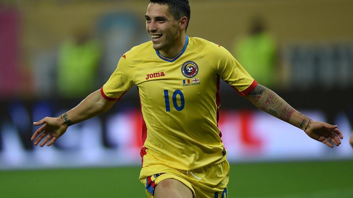 Nicolas Stanciu sous le maillot de la Roumanie (juin 2016)
