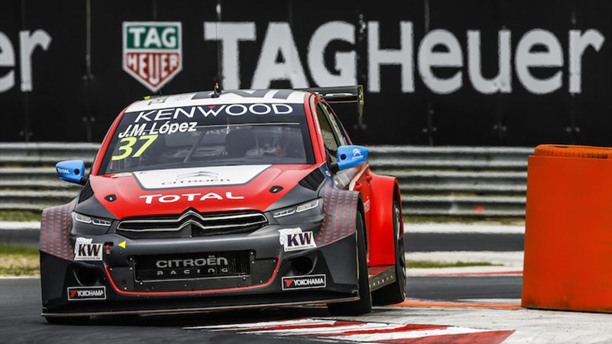 37 LOPEZ Jose Maria (arg) Citroen C Elysee team Citroen TOTAL WTCC action during the 2016 FIA WTCC World Touring Car Race of Hungary at hungaroring, Budapest from April 22 to 24, 2016 - Photo Florent Gooden / DPPI