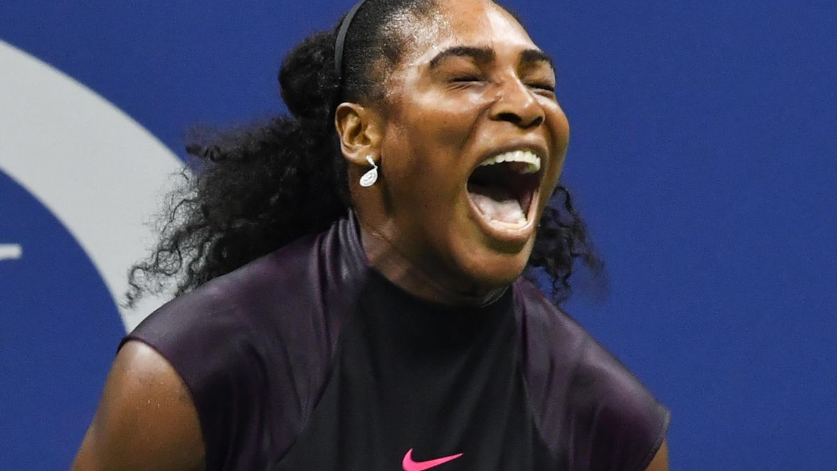 Serena Williams freut sich über ihren Halbfinaleinzug