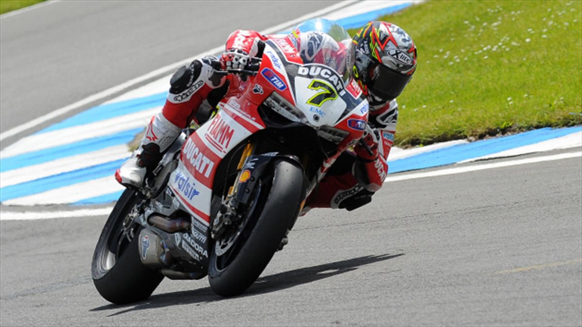 Ducati's Chaz Davies secured his eighth win of the season in race one in Jerez