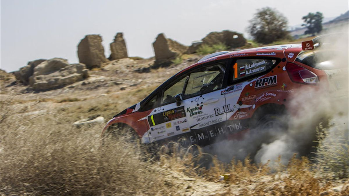 01 LUKYANUK Alexey and ARNAUTOV Alexey FORD Fiesta R5 action during the 2016 European Rally Championship ERC Cyprus Rally,  from october  7 to 9  at Nicosie, Cyprus - Photo Thomas Fenêtre / DPPI