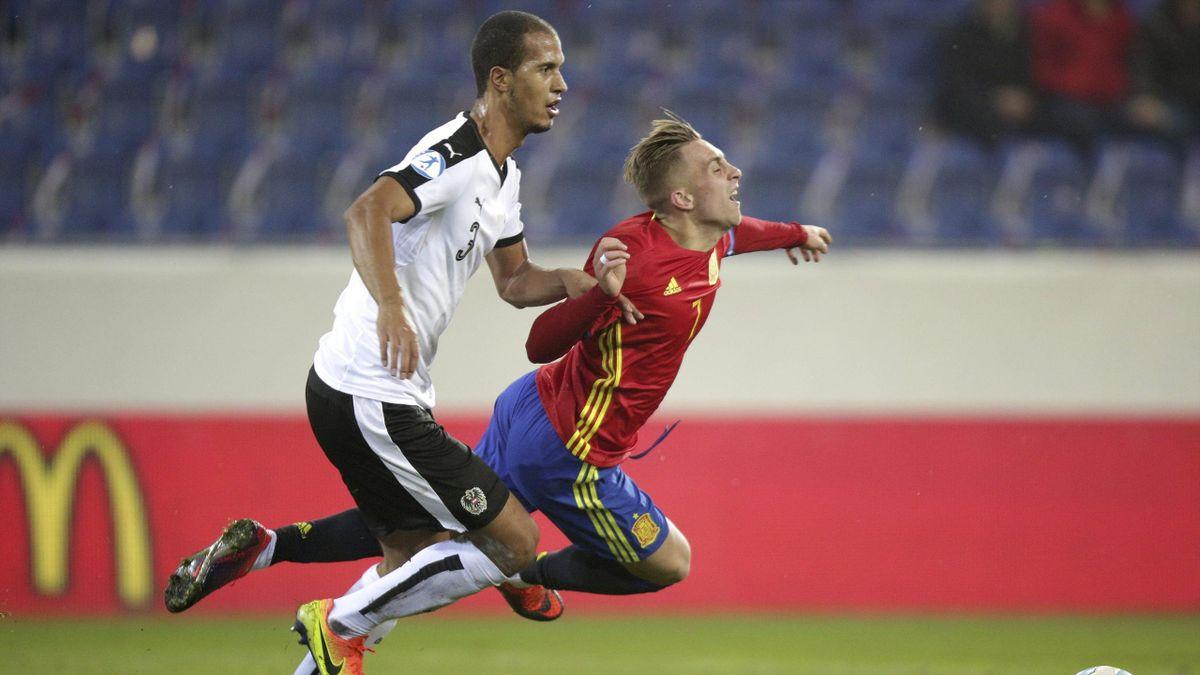 Gerard Deulofeu, en el Austria-España sub-21