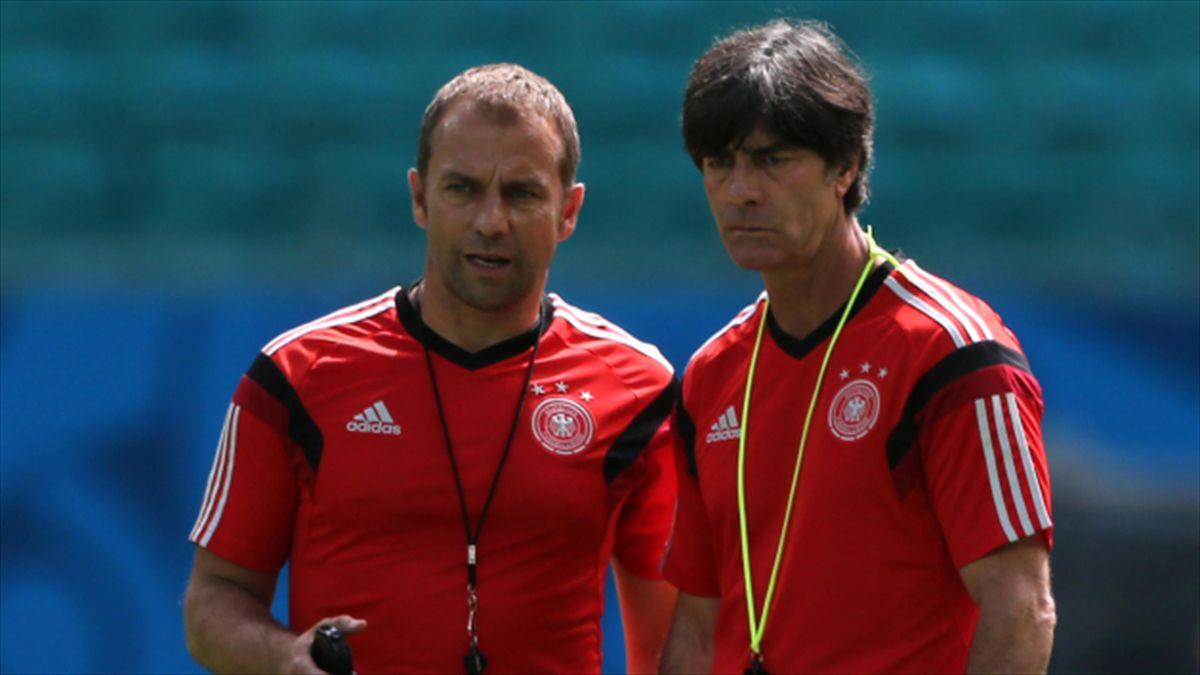 Hans-Dieter Flick, left, has left the German Football Association