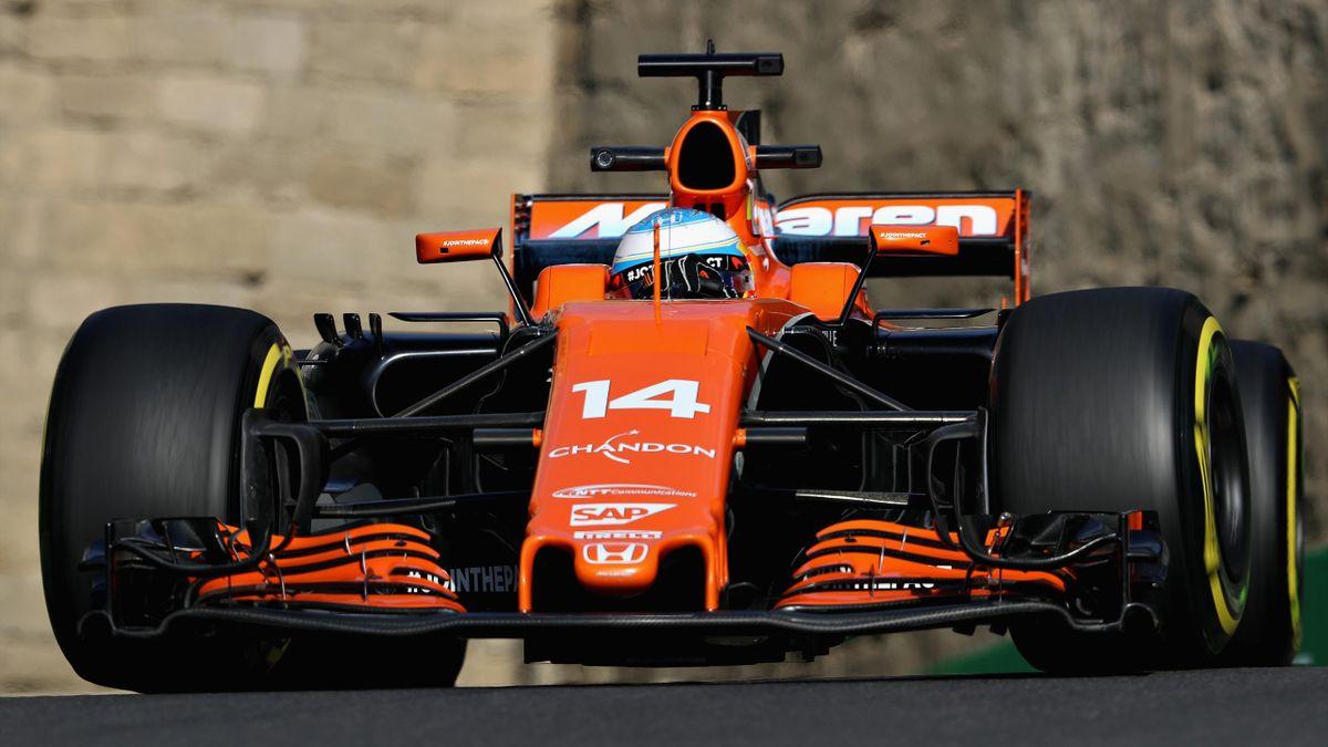 Fernando Alonso, en el GP de Bakú