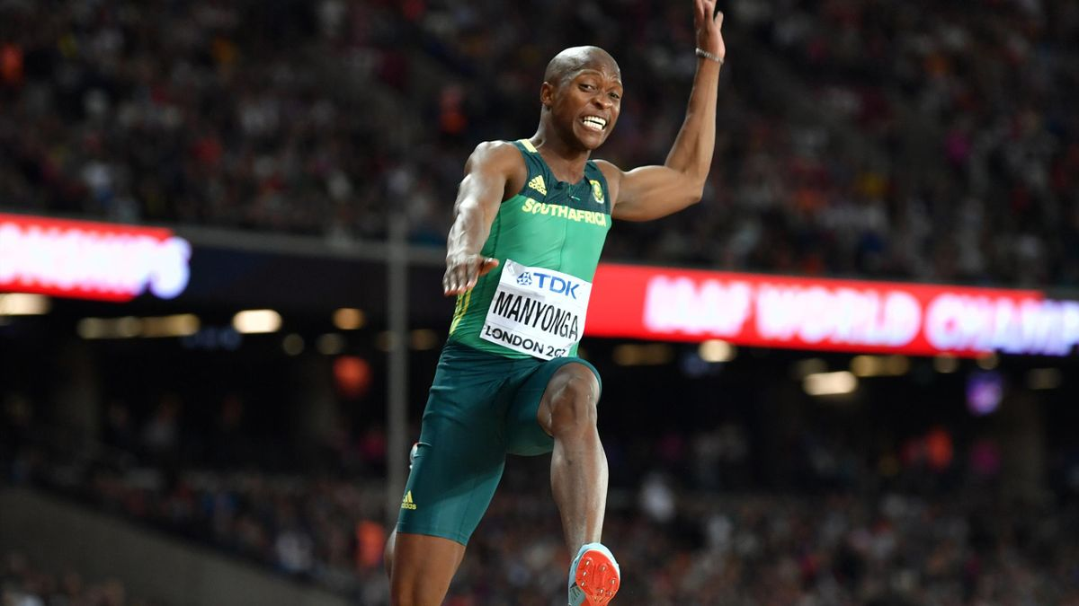 Luvo Manyonga blieb einen halben Meter unter Weltrekord