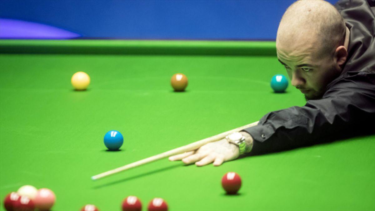 Luca Brecel celebrated success at the Evergrande China Championship