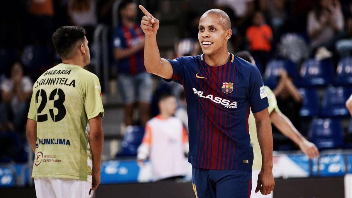 Ferrao marca en el Barcelona-Palma Futsal