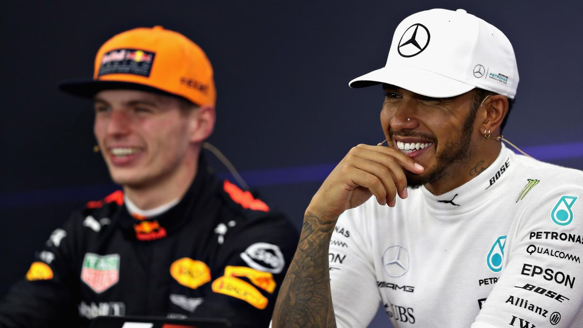 Race winner Lewis Hamilton of Great Britain and Mercedes GP in the post race press conference.