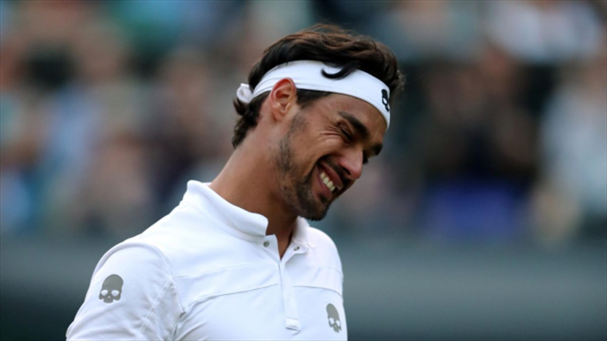 Fabio Fognini verbally abused an umpire during his first-round loss at the US Open