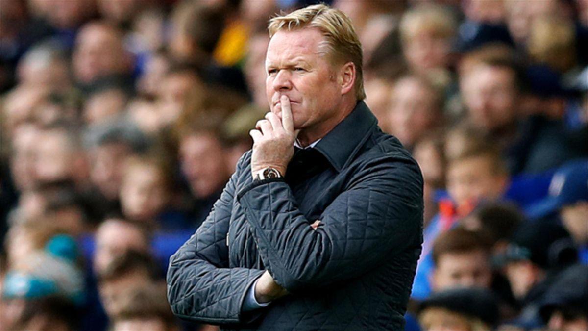 Ronald Koeman is under huge pressure at Everton