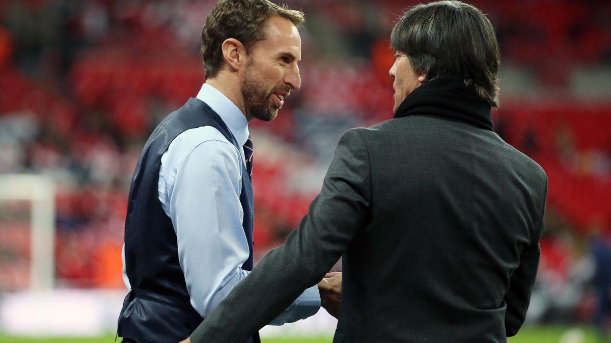 Gareth Southgate și Joachim Löw