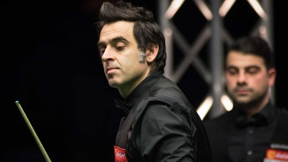 Ronnie O'Sullivan in the Scottish Open in Glasgow.