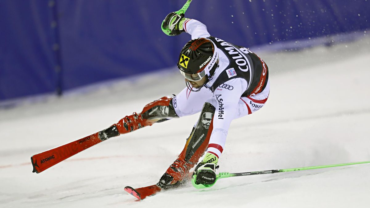 MADONNA DI CAMPIGLIO, ITALY - DECEMBER 22: Marcel Hirscher of Austria takes 1st place during the Audi FIS Alpine Ski World Cup Men's Slalom on December 22, 2017 in Madonna di Campiglio, Italy. (Photo by Stanko Gruden/Agence Zoom/Getty Images)
