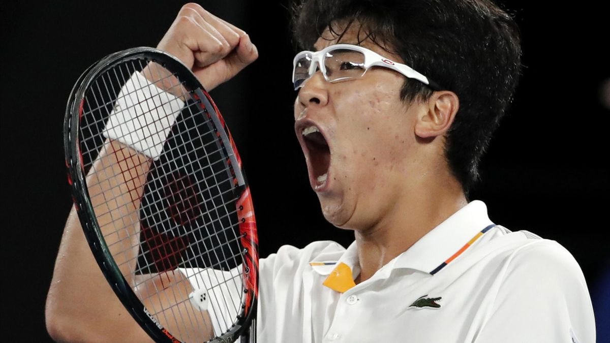 Chung Hyeon stunned Novak Djokovic in the fourth round of the Australian Open (Vincent Thian/AP)