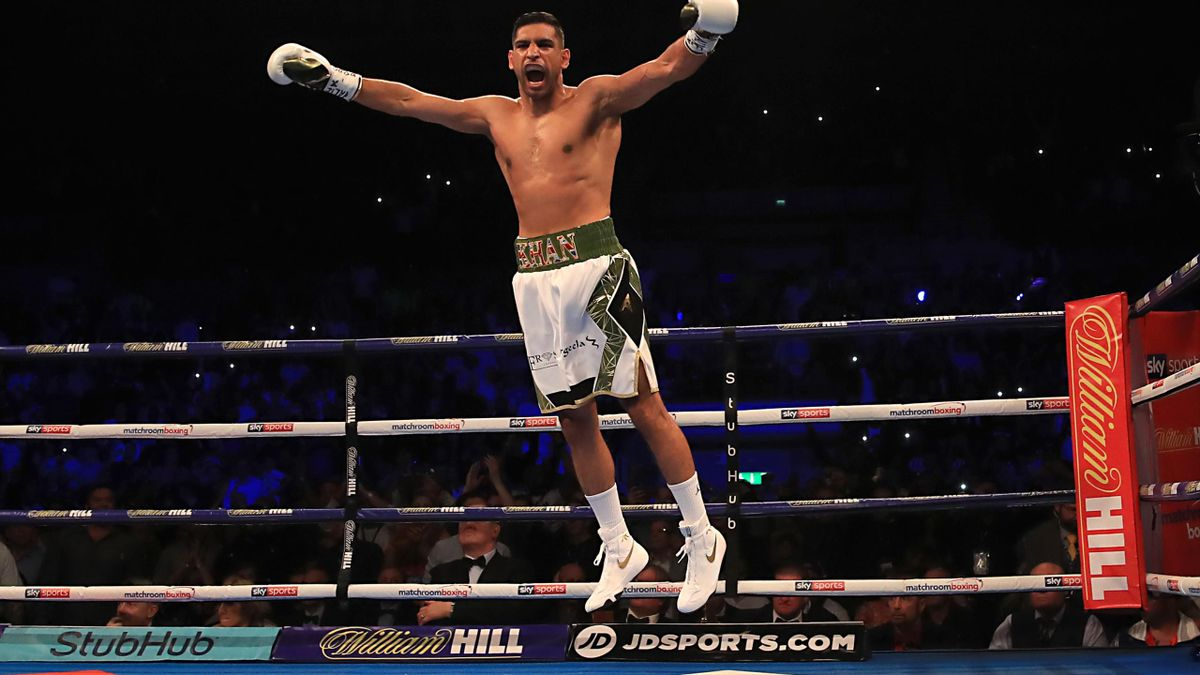 Amir Khan beat Phil Lo Greco inside 40 seconds on his return to the ring (Peter Byrne/PA)