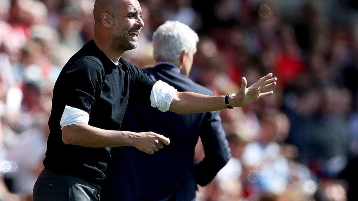 Pep Guardiola's champions finished on 100 points after victory at Southampton (John Walton/PA)