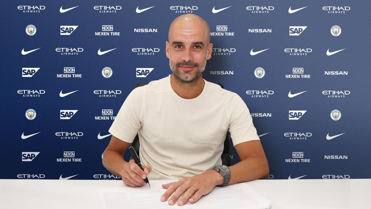 Pep Guardiola extends Manchester City deal - Eurosport